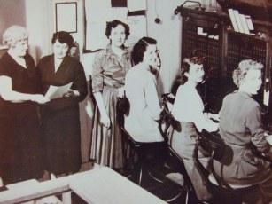 Centrale des opérations téléphone vers 1955-56