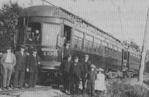 gare train électrique inauguration 1913